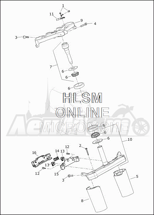 Запчасти для Мотоцикла Harley-Davidson 2019 FLRT FREEWHEELER (MC) Раздел: SUSPENSION - FRONT FORK BRACKETS | передняя подвеска вилка кронштейны