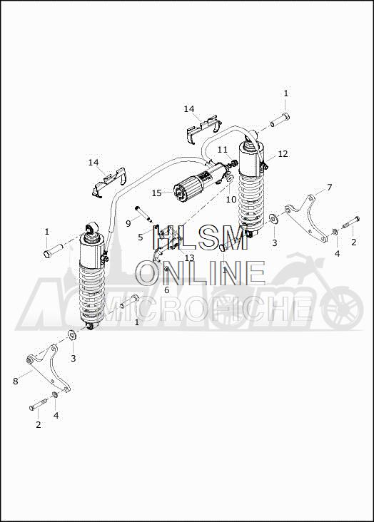 Запчасти для Мотоцикла Harley-Davidson 2019 FLRT FREEWHEELER (MC) Раздел: SUSPENSION - REAR SHOCK ABSORBERS   задняя подвеска амортизаторы