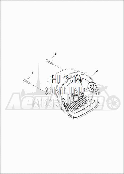 Запчасти для Мотоцикла Harley-Davidson 2019 FLRT FREEWHEELER (MC) Раздел: TAIL LAMP AND TURN SIGNAL_REAR - HDI | TAIL лампа и сигнал поворота зад HDI