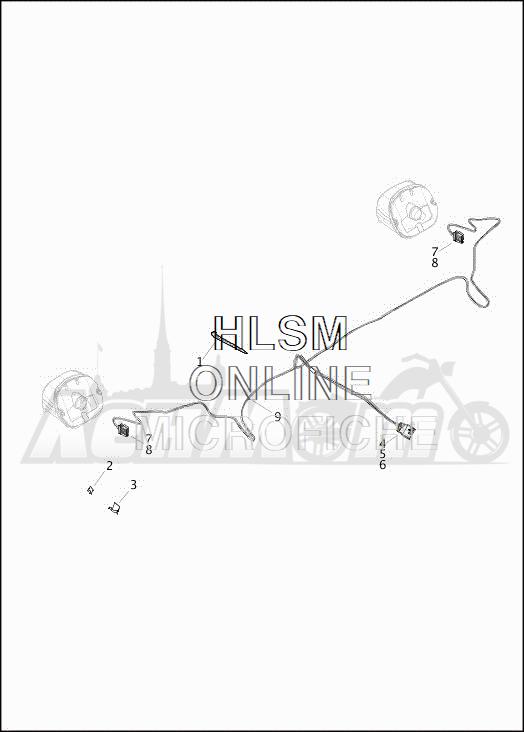 Запчасти для Мотоцикла Harley-Davidson 2019 FLRT FREEWHEELER (MC) Раздел: WIRING HARNESS_TURN SIGNALS AND LIGHTS_REAR - DOMESTIC | электропроводка коса сигналы поворота и LIGHTS зад внутренний рынок