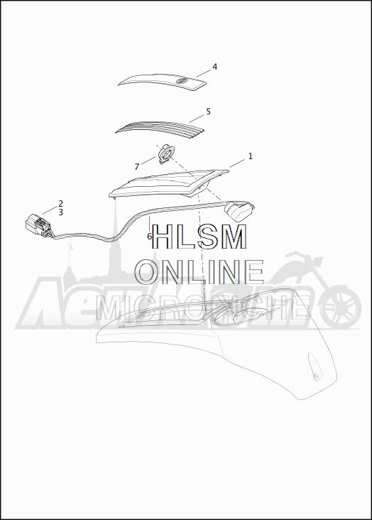 Запчасти для Мотоцикла Harley-Davidson 2019 FLTRU ROAD GLIDE ULTRA (KG) Раздел: INTERCOM CONTROL POD | INTERCOM управление POD