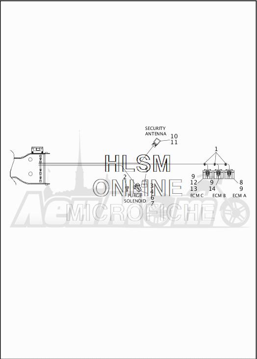 Запчасти для Мотоцикла Harley-Davidson 2019 FLTRU ROAD GLIDE ULTRA (KG) Раздел: WIRING HARNESS_MAIN - ABS - 4 | электропроводка главный жгут ABS 4