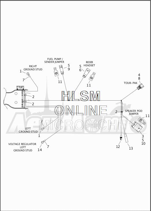Запчасти для Мотоцикла Harley-Davidson 2019 FLTRU ROAD GLIDE ULTRA (KG) Раздел: WIRING HARNESS_MAIN - ABS - 5 | электропроводка главный жгут ABS 5