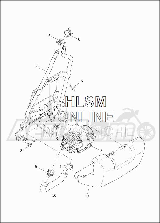 Запчасти для Мотоцикла Harley-Davidson 2019 FLTRU ROAD GLIDE ULTRA (KG) Раздел: COOLANT - PUMP/HOSES   охлаждающая жидкость насос/шланги