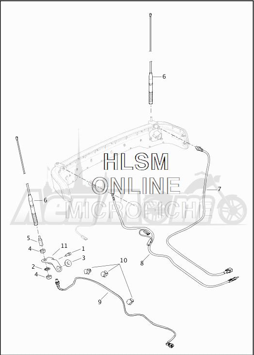 Запчасти для Мотоцикла Harley-Davidson 2019 FLTRU ROAD GLIDE ULTRA (KG) Раздел: ANTENNAS | антенны