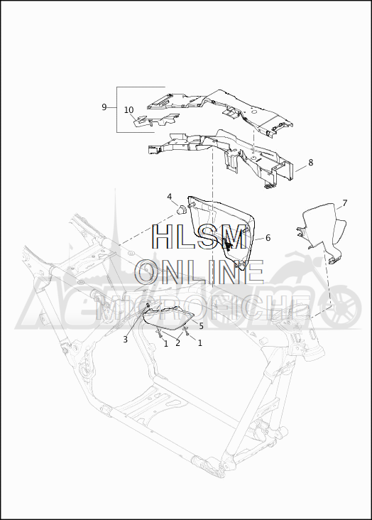 Запчасти для Мотоцикла Harley-Davidson 2019 FLTRU ROAD GLIDE ULTRA (KG) Раздел: SIDE COVERS W/AIR DEFLECTORS   боковые крышки вместе с воздух дефлекторы