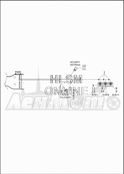 Запчасти для Мотоцикла Harley-Davidson 2019 FLTRX ROAD GLIDE (KH) Раздел: WIRING HARNESS_MAIN - ABS - 4 | электропроводка главный жгут ABS 4