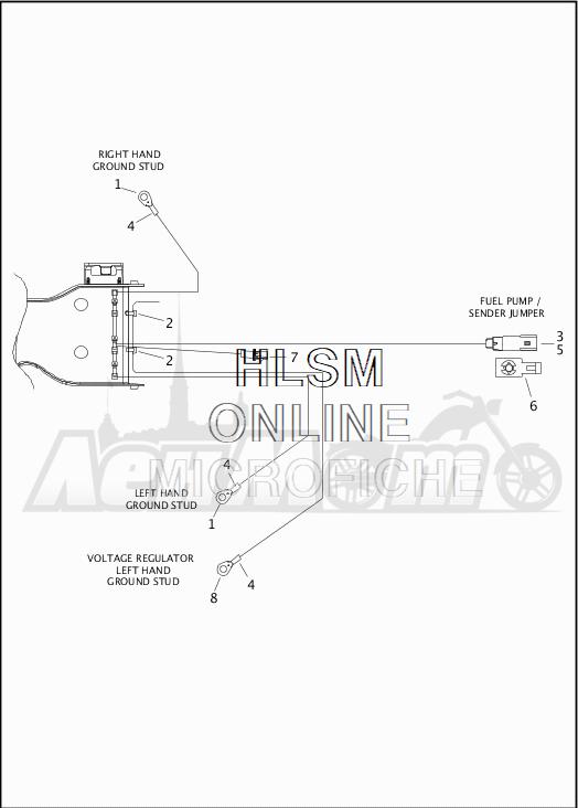 Запчасти для Мотоцикла Harley-Davidson 2019 FLTRX ROAD GLIDE (KH) Раздел: WIRING HARNESS_MAIN - ABS - 5 | электропроводка главный жгут ABS 5