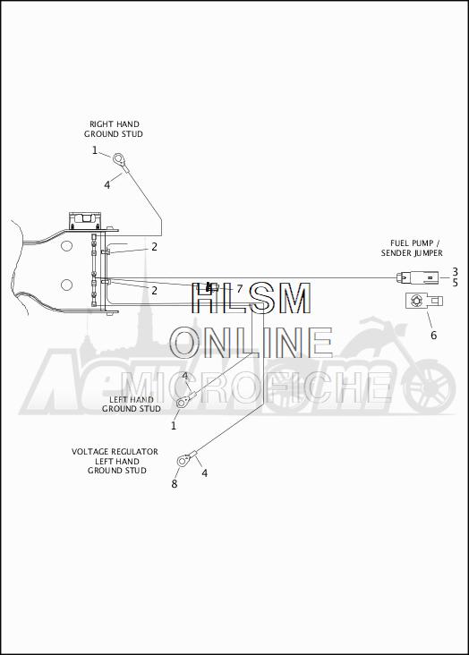 Запчасти для Мотоцикла Harley-Davidson 2019 FLTRX ROAD GLIDE (KH) Раздел: WIRING HARNESS_MAIN - NON-ABS - 5 | электропроводка главный жгут не ABS 5