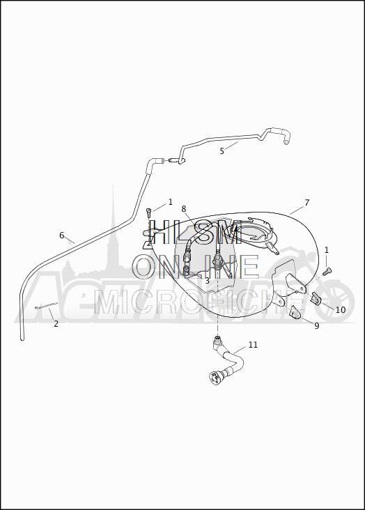 Запчасти для Мотоцикла Harley-Davidson 2019 FLTRX ROAD GLIDE (KH) Раздел: FUEL TANK ASSEMBLY | топливный бак в сборе