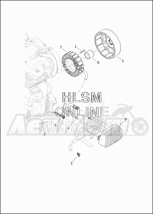Запчасти для Мотоцикла Harley-Davidson 2019 FLTRXS ROAD GLIDE SPECIAL (KT) Раздел: ELECTRICAL - ALTERNATOR W/VOLTAGE REGULATOR | электрика генератор вместе с регулятор напряжения