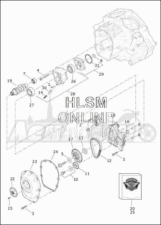 Запчасти для Мотоцикла Harley-Davidson 2019 FLTRXSE CVO ROAD GLIDE (TC) Раздел: CAMSHAFTS W/CAMSHAFT COVER | распредвалы вместе с распредвал крышка