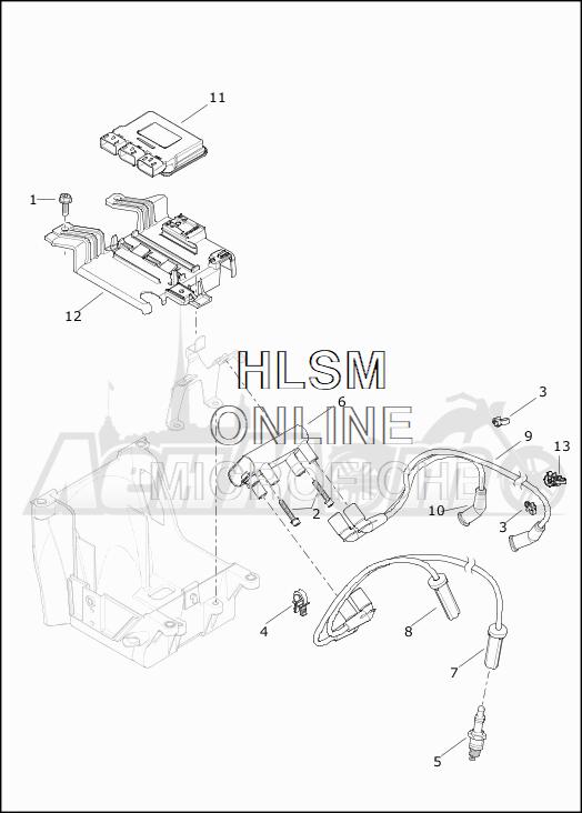 Запчасти для Мотоцикла Harley-Davidson 2019 FLTRXSE CVO ROAD GLIDE (TC) Раздел: ELECTRICAL - ELECTRONIC CONTROL MODULE W/COIL ASSEMBLY | электрика электронный управление модуль вместе с катушка в сборе