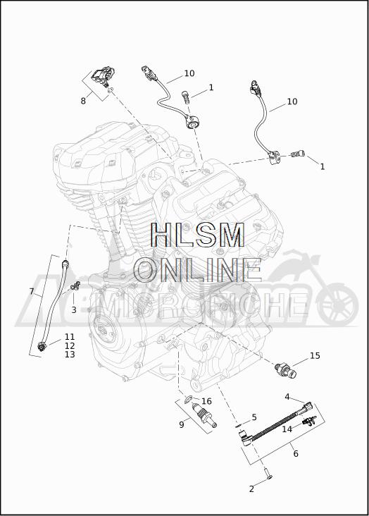 Запчасти для Мотоцикла Harley-Davidson 2019 FLTRXSE CVO ROAD GLIDE (TC) Раздел: ELECTRICAL - ENGINE SENSORS W/SWITCHES | электрика двигатель датчики вместе с выключатели, переключатели