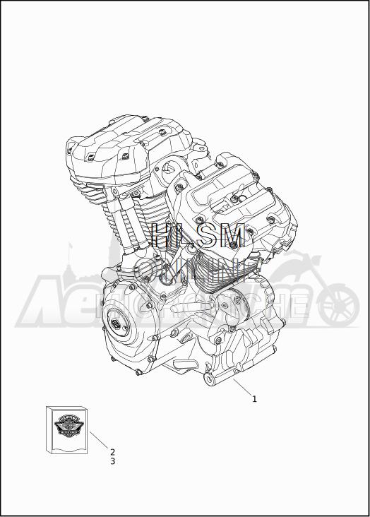 Запчасти для Мотоцикла Harley-Davidson 2019 FLTRXSE CVO ROAD GLIDE (TC) Раздел: ENGINE ASSEMBLY | двигатель в сборе