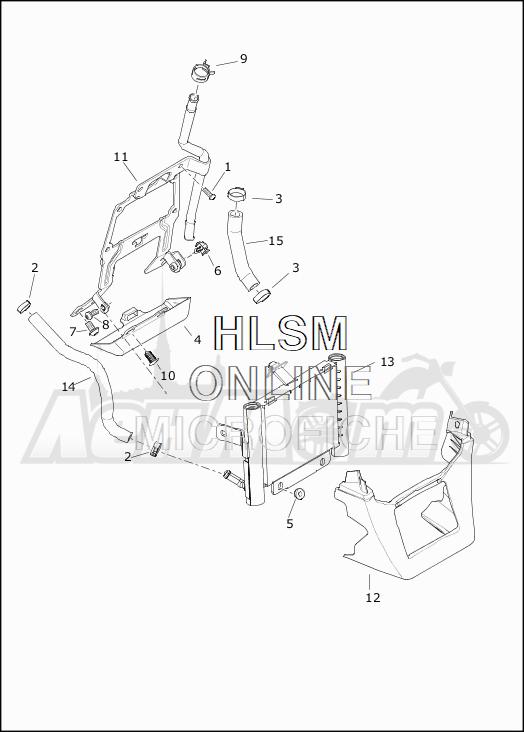 Запчасти для Мотоцикла Harley-Davidson 2019 FLTRXSE CVO ROAD GLIDE (TC) Раздел: OIL LINES W/COOLER | масло магистрали вместе с кулер