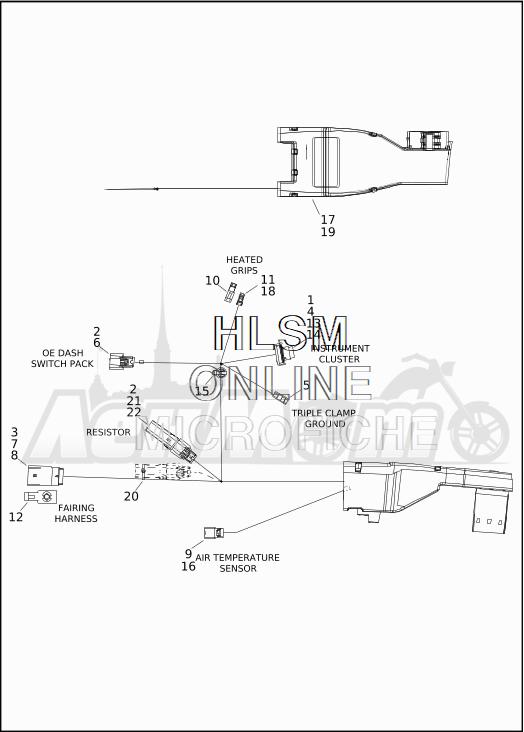 Запчасти для Мотоцикла Harley-Davidson 2019 FLTRXSE CVO ROAD GLIDE (TC) Раздел: ELECTRICAL - MAIN WIRING HARNESS - 1 | электрика главный электропроводка коса 1