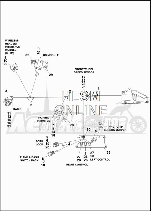 Запчасти для Мотоцикла Harley-Davidson 2019 FLTRXSE CVO ROAD GLIDE (TC) Раздел: ELECTRICAL - MAIN WIRING HARNESS - 2   электрика главный электропроводка коса 2