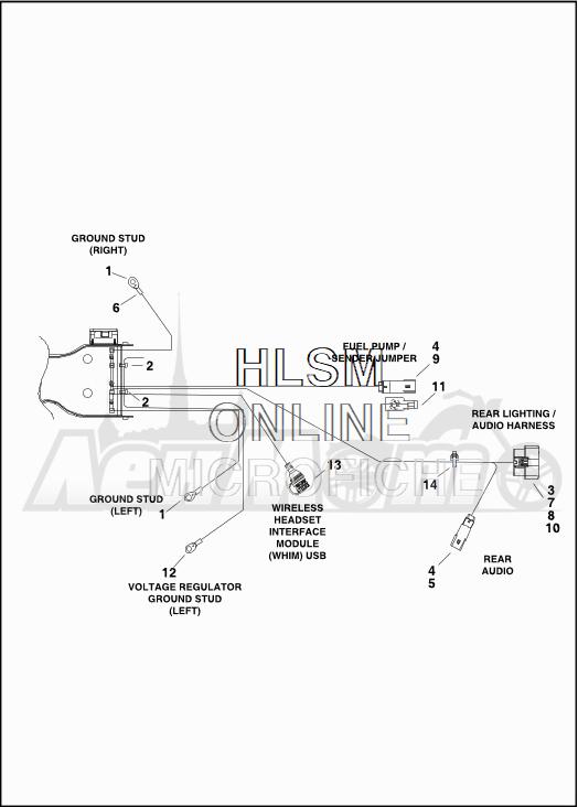 Запчасти для Мотоцикла Harley-Davidson 2019 FLTRXSE CVO ROAD GLIDE (TC) Раздел: ELECTRICAL - MAIN WIRING HARNESS - 5 | электрика главный электропроводка коса 5