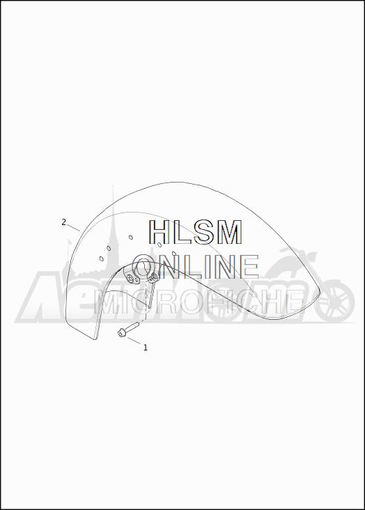 Запчасти для Мотоцикла Harley-Davidson 2019 FLTRXSE CVO ROAD GLIDE (TC) Раздел: FENDER - FRONT | переднее крыло
