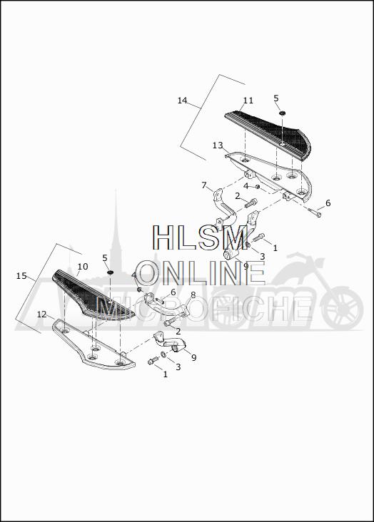 Запчасти для Мотоцикла Harley-Davidson 2019 FLTRXSE CVO ROAD GLIDE (TC) Раздел: FOOTBOARDS - RIDER | площадки под ноги RIDER