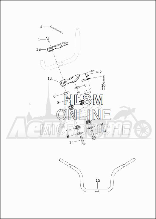 Запчасти для Мотоцикла Harley-Davidson 2019 FLTRXSE CVO ROAD GLIDE (TC) Раздел: HANDLEBAR ASSEMBLY | руль в сборе