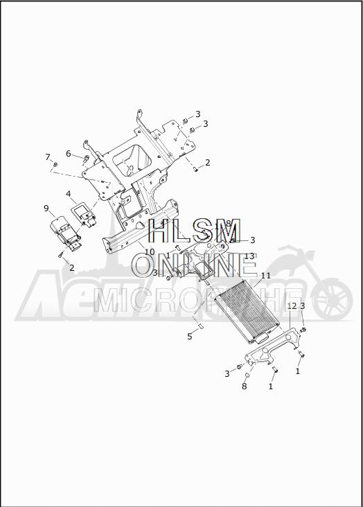 Запчасти для Мотоцикла Harley-Davidson 2019 FLTRXSE CVO ROAD GLIDE (TC) Раздел: SOUND SYSTEM - 1 | аудиосистема 1