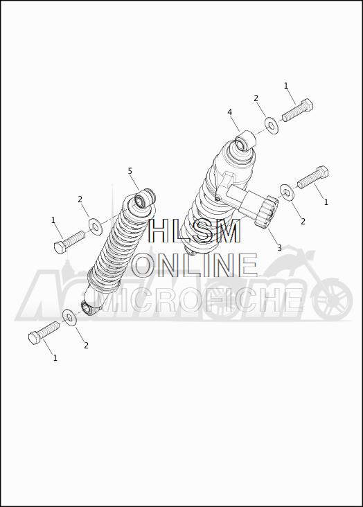Запчасти для Мотоцикла Harley-Davidson 2019 FLTRXSE CVO ROAD GLIDE (TC) Раздел: SUSPENSION - REAR SHOCK ABSORBERS | задняя подвеска амортизаторы