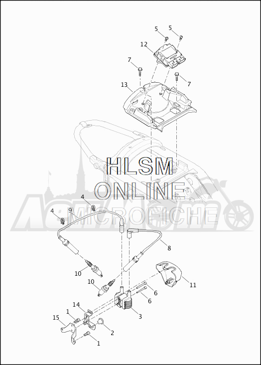 Запчасти для Мотоцикла Harley-Davidson 2019 XG500 STREET 500 (NA) Раздел: ELECTRICAL - ELECTRONIC CONTROL MODULE W/COIL ASSEMBLY | электрика электронный управление модуль вместе с катушка в сборе