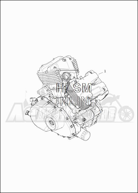 Запчасти для Мотоцикла Harley-Davidson 2019 XG500 STREET 500 (NA) Раздел: ENGINE ASSEMBLY   двигатель в сборе