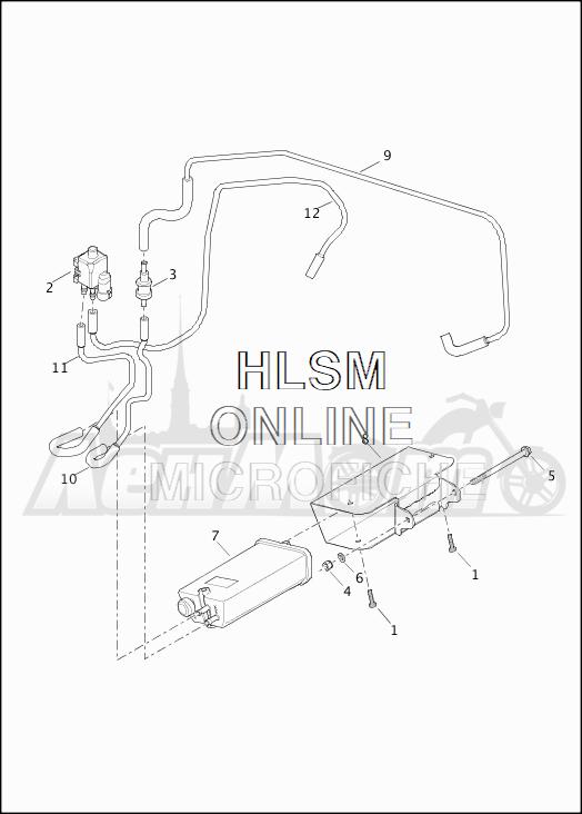 Запчасти для Мотоцикла Harley-Davidson 2019 XG500 STREET 500 (NA) Раздел: EVAPORATIVE EMISSIONS COMPONENTS (CALIF. ONLY) | испаритель выбросов компоненты (калифорния. только)