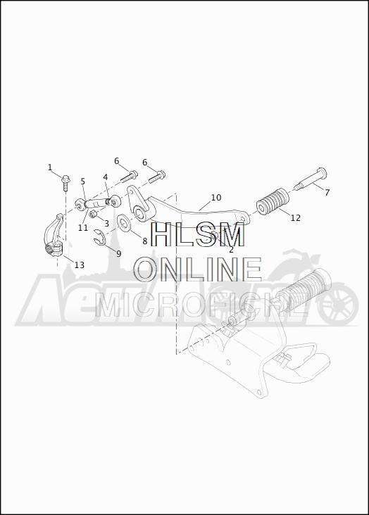 Запчасти для Мотоцикла Harley-Davidson 2019 XG500 STREET 500 (NA) Раздел: GEAR SHIFTER - LEVER | переключатель скоростей рычаг