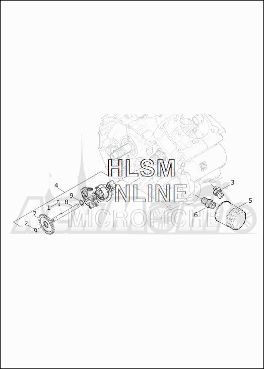Запчасти для Мотоцикла Harley-Davidson 2019 XG500 STREET 500 (NA) Раздел: OIL PUMP | маслянный насос