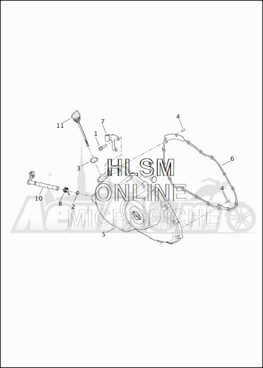 Запчасти для Мотоцикла Harley-Davidson 2019 XG500 STREET 500 (NA) Раздел: PRIMARY COVER | первичный крышка