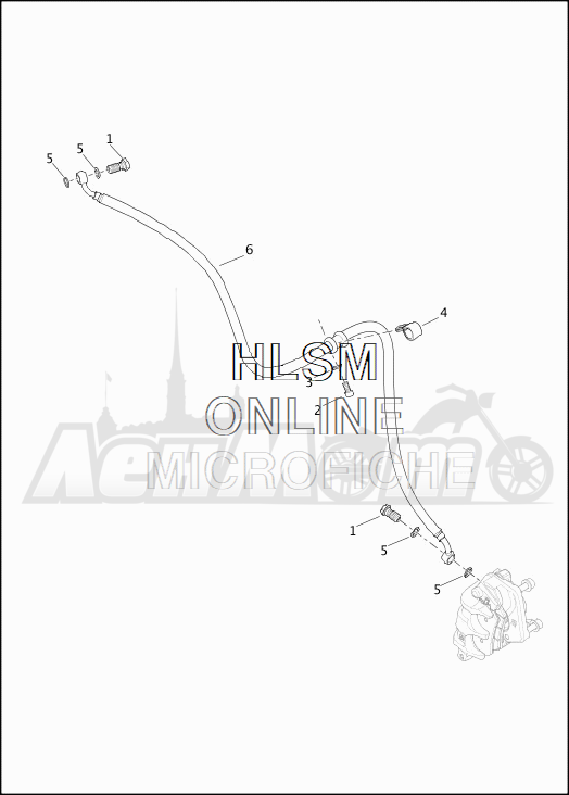 Запчасти для Мотоцикла Harley-Davidson 2019 XG500 STREET 500 (NA) Раздел: BRAKE - FRONT LINE | передний тормоз магистраль