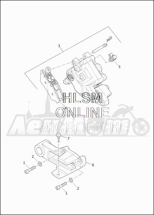 Запчасти для Мотоцикла Harley-Davidson 2019 XG500 STREET 500 (NA) Раздел: BRAKE - REAR BRAKE CALIPER ASSEMBLY | задний тормоз тормозной суппорт в сборе