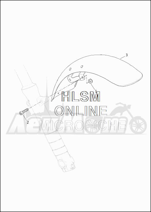 Запчасти для Мотоцикла Harley-Davidson 2019 XG500 STREET 500 (NA) Раздел: FENDER - FRONT | переднее крыло