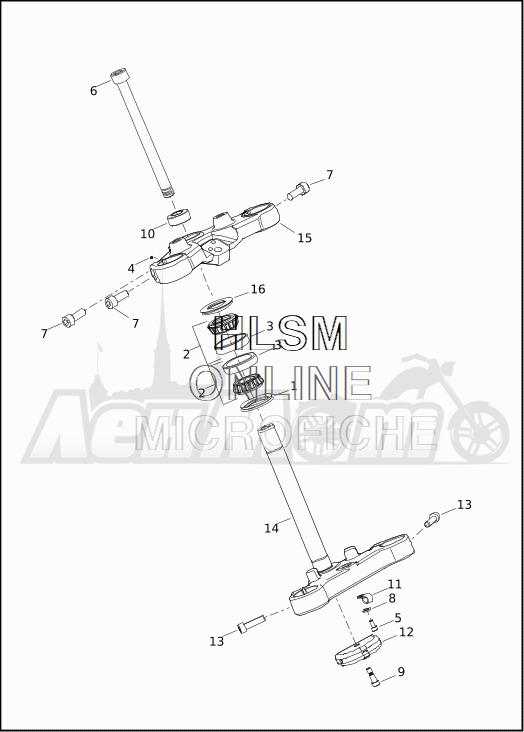 Запчасти для Мотоцикла Harley-Davidson 2019 XG500 STREET 500 (NA) Раздел: SUSPENSION - FRONT FORK BRACKETS | передняя подвеска вилка кронштейны