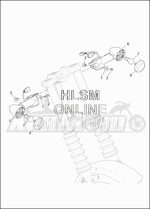 Запчасти для Мотоцикла Harley-Davidson 2019 XG500 STREET 500 (NA) Раздел: TURN SIGNALS - FRONT   сигналы поворота перед