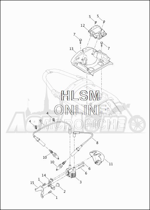 Запчасти для Мотоцикла Harley-Davidson 2019 XG750 STREET 750 (NB) Раздел: ELECTRICAL - ELECTRONIC CONTROL MODULE W/COIL ASSEMBLY | электрика электронный управление модуль вместе с катушка в сборе