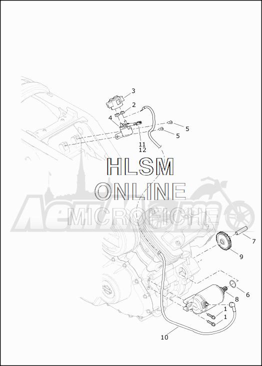 Запчасти для Мотоцикла Harley-Davidson 2019 XG750 STREET 750 (NB) Раздел: ELECTRICAL - STARTER ASSEMBLY   электрика стартер в сборе