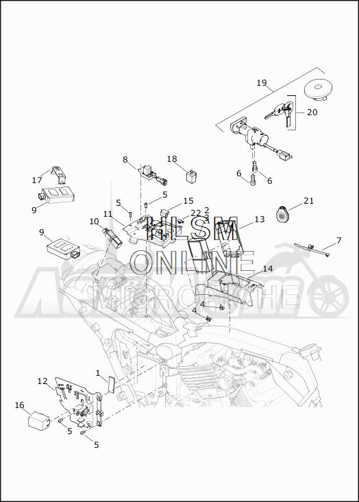 Запчасти для Мотоцикла Harley-Davidson 2019 XG750 STREET 750 (NB) Раздел: ELECTRICAL - SWITCHES AND SENSORS | электрика выключатели, переключатели и датчики