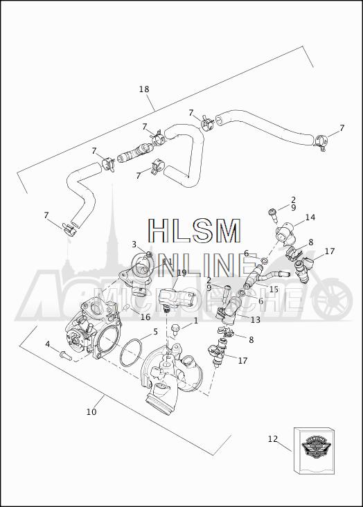 Запчасти для Мотоцикла Harley-Davidson 2019 XG750 STREET 750 (NB) Раздел: FUEL INJECTION ASSEMBLY | топливо впрыск в сборе