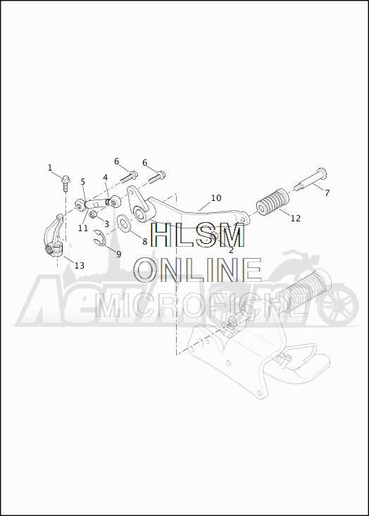 Запчасти для Мотоцикла Harley-Davidson 2019 XG750 STREET 750 (NB) Раздел: GEAR SHIFTER - LEVER | переключатель скоростей рычаг
