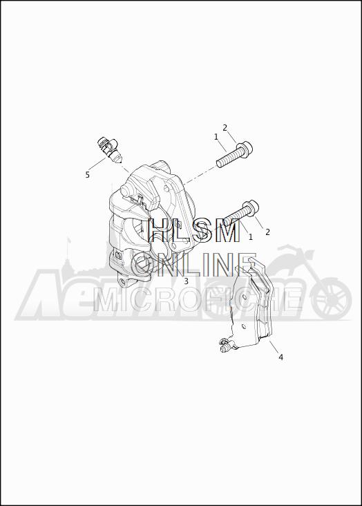 Запчасти для Мотоцикла Harley-Davidson 2019 XG750 STREET 750 (NB) Раздел: BRAKE - FRONT BRAKE CALIPER ASSEMBLY   передний тормоз тормозной суппорт в сборе