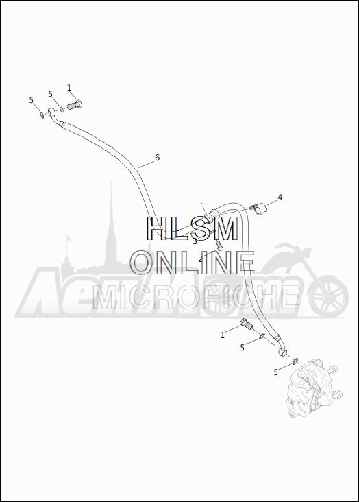 Запчасти для Мотоцикла Harley-Davidson 2019 XG750 STREET 750 (NB) Раздел: BRAKE - FRONT LINE   передний тормоз магистраль