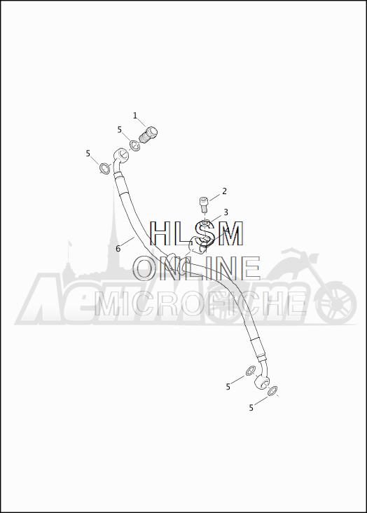 Запчасти для Мотоцикла Harley-Davidson 2019 XG750 STREET 750 (NB) Раздел: BRAKE - REAR LINES (NON-ABS) | задний тормоз магистрали (не ABS)