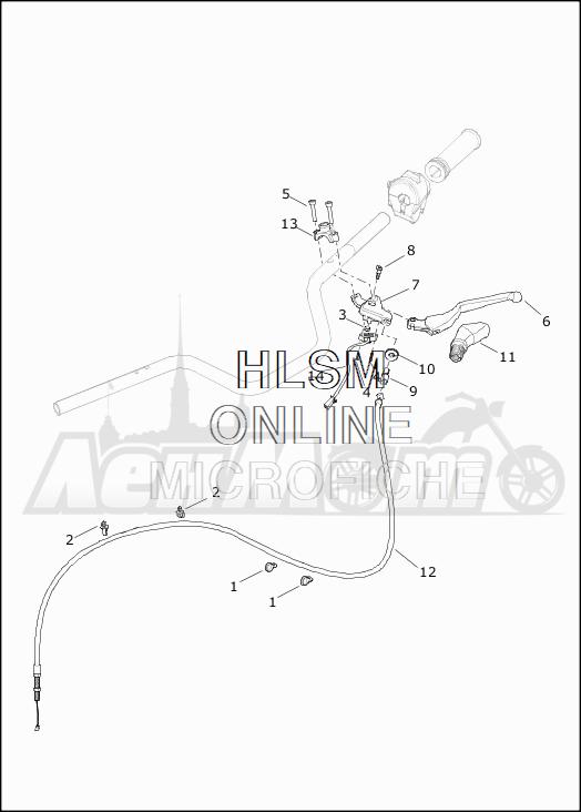 Запчасти для Мотоцикла Harley-Davidson 2019 XG750 STREET 750 (NB) Раздел: CLUTCH LEVER ASSEMBLY | сцепление рычаг в сборе