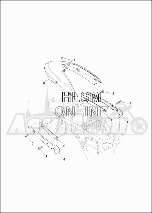 Запчасти для Мотоцикла Harley-Davidson 2019 XG750 STREET 750 (NB) Раздел: FENDER - REAR | заднее крыло