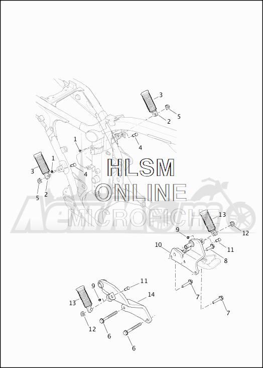 Запчасти для Мотоцикла Harley-Davidson 2019 XG750 STREET 750 (NB) Раздел: FOOTPEGS | подножки